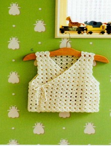 crochet baby vest and stole