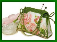 crochet and embroidery bags cross stitch kits