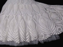 crochet beauty and charming white skirt for ladies