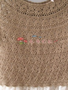 crochet beauty lady pullover