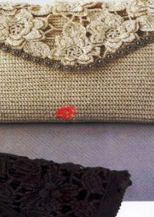 crochet beauty purse and handbag