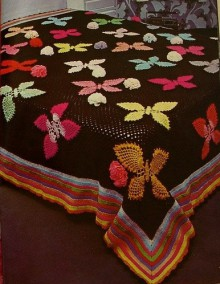 crochet butterflies cover for your home