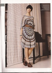 crochet charming dress with big circles