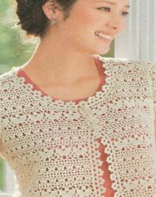 crochet charming lace bolero, crochet pattern