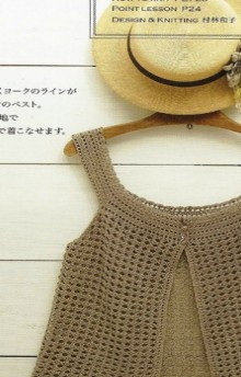 crochet charming top for girls