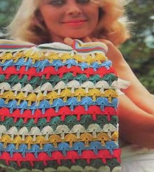 crochet colorful handbag for ladies, crochet pattern
