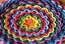 crochet colorful flower for accessories