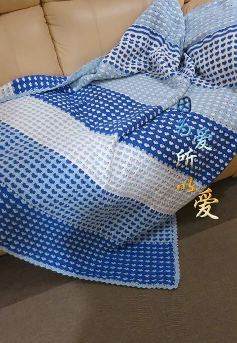 心形拼色钩针毯子 - Daphne Tsui - 因为爱所以爱