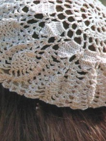 crochet lace ladies beret