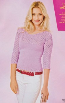 crochet lady pullover with sleevers