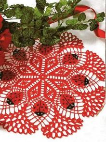 crochet ladybug doily