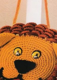 crochet lion handbag for kids