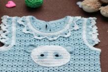 crochet panda cardigan for kids, crochet pattern