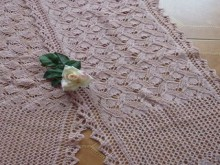 knitting beauty lace scarf for girl