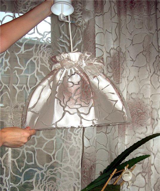 Абажур для торшера из ткани фото