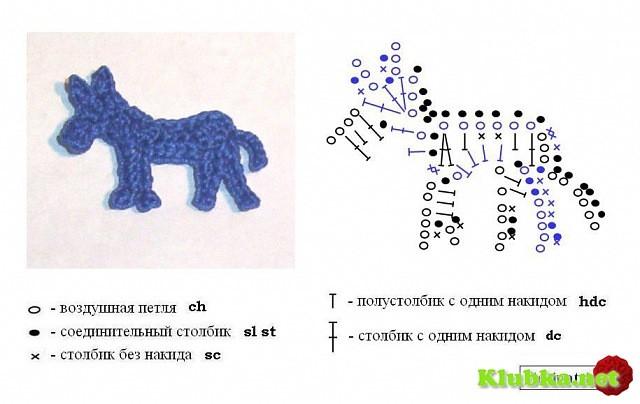 Схемы для вязания крючком зверей