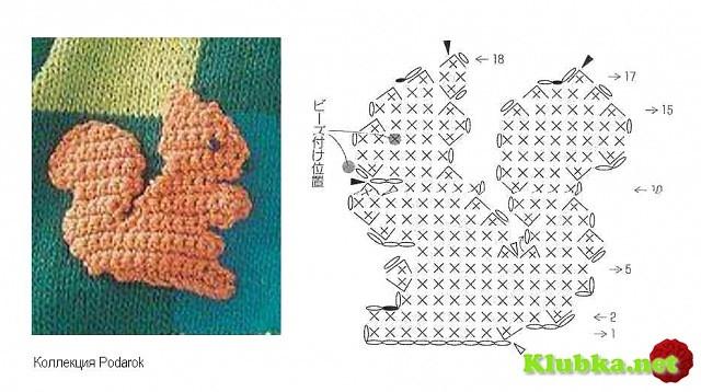 Схема вязания зверей крючком 39