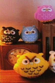 amirugumi: crochet owls