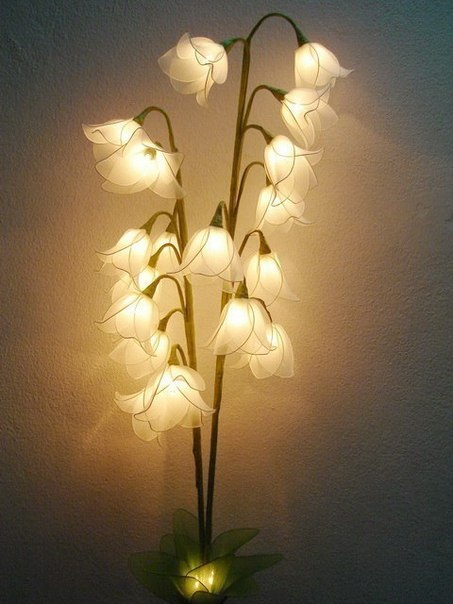 Unique And Beauty Flower Lamps For Your Home Make