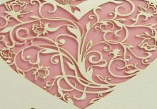 unique valentine card: carving heart card