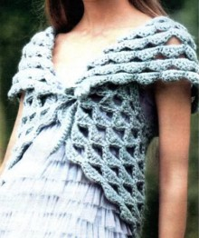 crochet beauty round bolero for girl