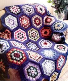 crochet beauty baby blanket with hexagon motives