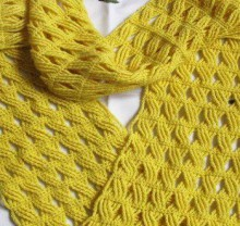 crochet beauty cable scarf, crochet pattern