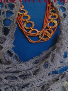 crochet beauty lace scarf with rectangles