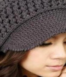 crochet beauty ladies cap