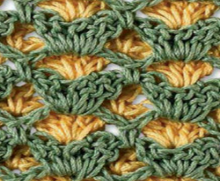 crochet beauty stitch with 2 color