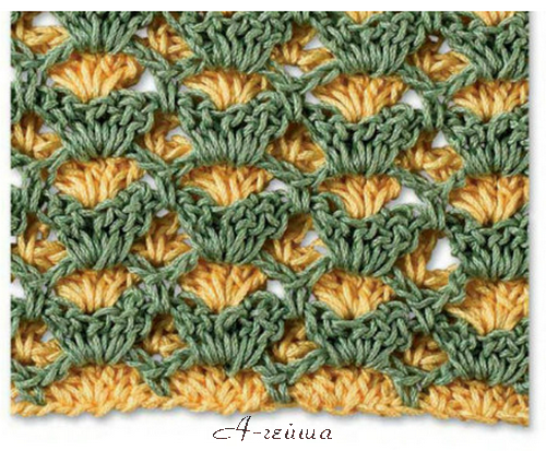 crochet beauty stitch with 2 color make handmade, crochet, craft