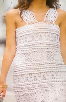 crochet charming dress for ladies, crochet pattern