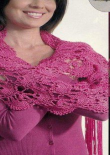 crochet beauty lace scarf