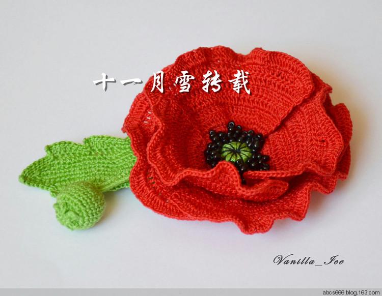 Knitting Patterns To Make Poppies : crochet poppy flower make handmade, crochet, craft