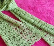 crochet women scarf