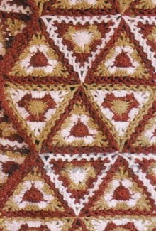 scarf made of triangular motifs