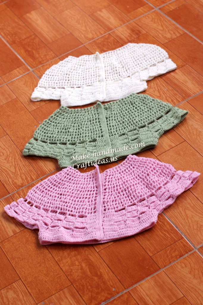 Crochet beauty baby bolero