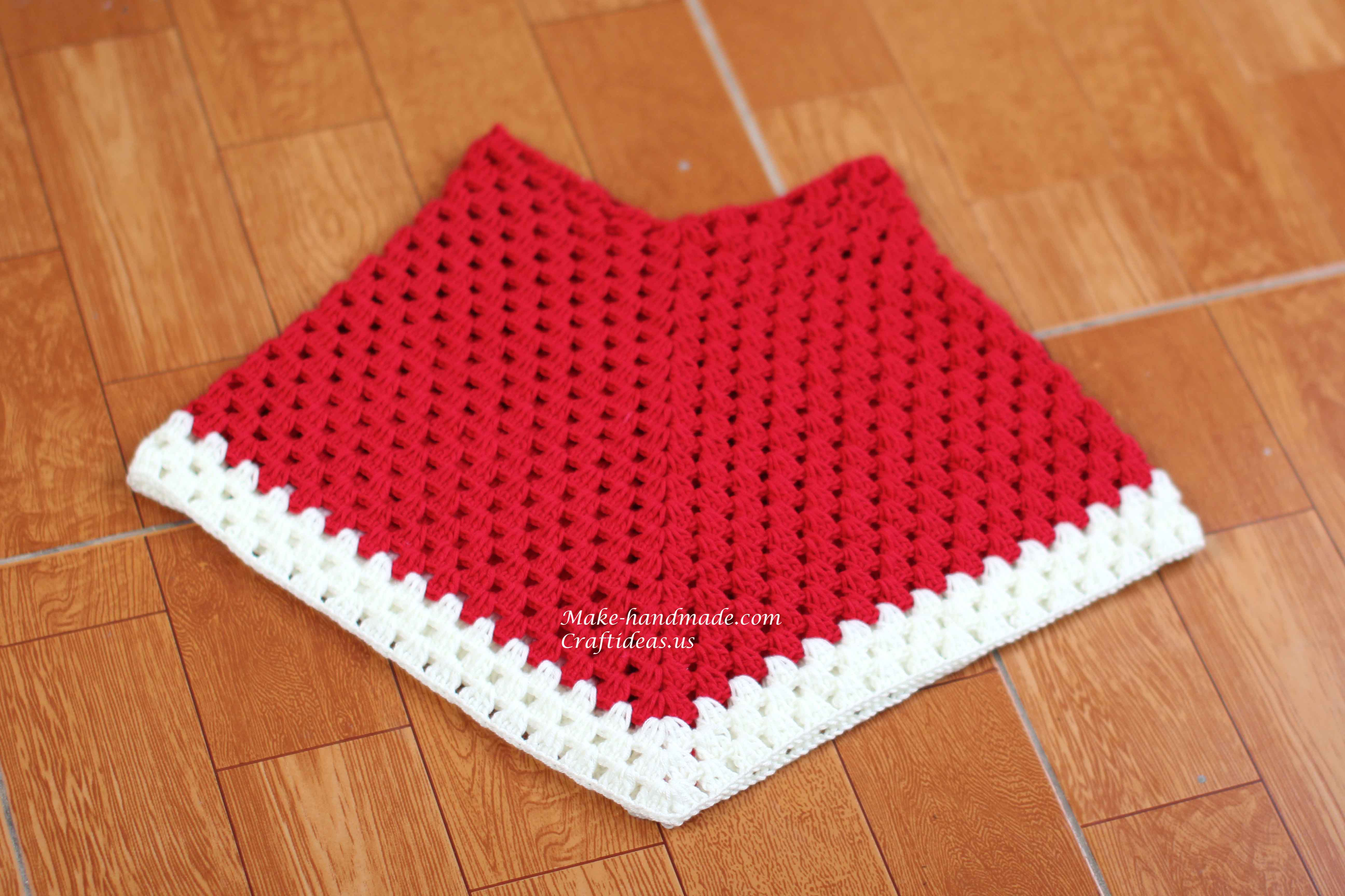 how to make a crochet triangle