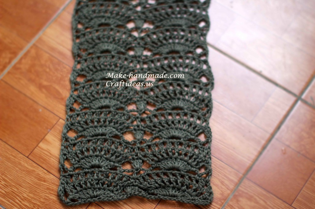 crochet beauty lace scarf