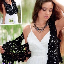 crochet irish lace for summer vest and bolero