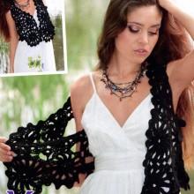 crochet irish lace for summer vest and bolero