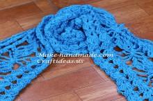 crochet beauty ladies scarf