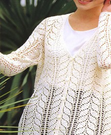 "the favorite models: crochet cardigan with ""leaves"""