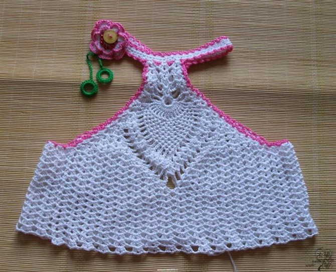Free Crochet Toddler Tank Top Pattern : crochet baby tank top dress with pineapple stitch make ...