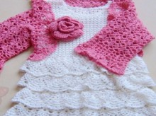 crochet beauty baby set