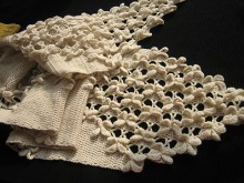 crochet beauty flower scarf