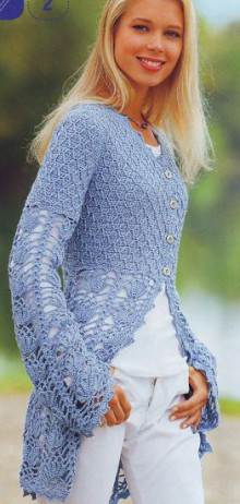 crochet beauty lace jacket, crochet pattern