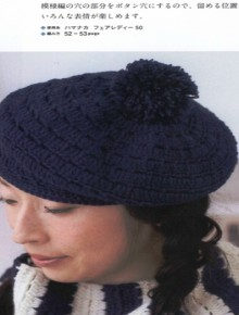 crochet beret and scarf, crochet patterns