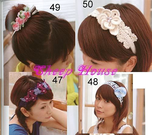 crochet flower headband patterns | make handmade, crochet, craft