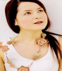 crochet flower necklace patterns